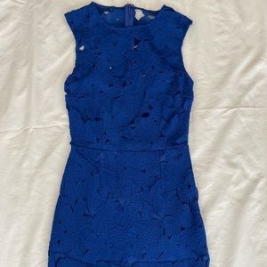 Missguided Blue Lace Dress
